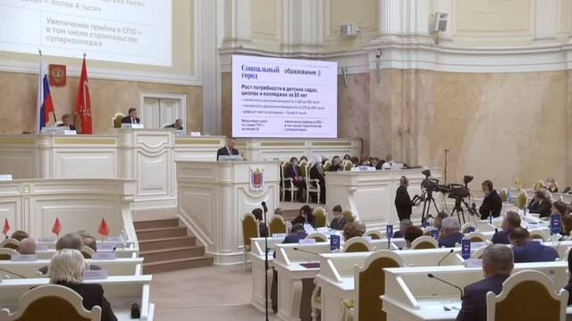 Беглов на заседании парламента – «Мы с самого начала были настроены на поиск системных решений»