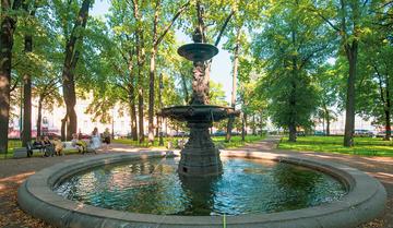 Фонтаны в Румянцевском саду восстановят в ближайшее время