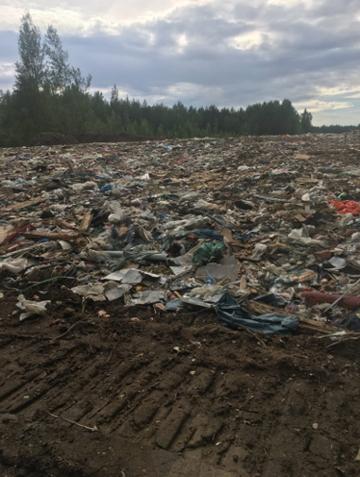 В Новом Девяткино строят дорогу из гниющих отходов МПБО-2